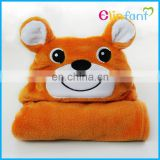 lovely animal shape coral fleece baby poncho towel