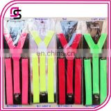 Hot pink neon colour spring suspender with cheap price