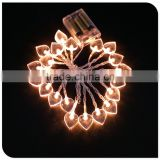 20LED christmas lighting chain battery operated powered with heart decorative