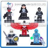Mini Qute DECOOL 6pcs/set Marvel Avenger super hero Batman building block action figures educational toy NO.0169-0174