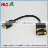 24+1 pin DVI male plug to bistratal double 24+5 pin DVI female jack DVI adaptor extended cable                                                                         Quality Choice