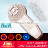 radio frequency wrinkle removal facial electroporation vibration face machine with led light