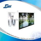 BW Audiovisual Remote Control Silver Projector Screen/Electric Motorized Projection Screen With Tubular Motor