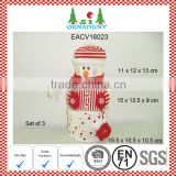Red white snowman christmas box