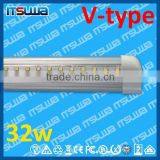 LED cooler light 5 feet LED fluorescent light, Emerald capacitor, Direct Replacement, v shape 32w