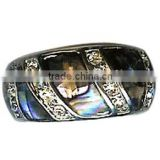 colorful tungsten ring with shell polished inside tungsten mens ring Cheap Prices Sales Shell Wedding Ring