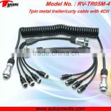 TOPFAME RV-TR05M-4 Trailer 0.4m*4m*0.4m 7pin metal connector cable/trailer & truck electrical cable for camera system