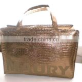 Metal color lamination bag, Copper Coated lamination PP non-woven bag, Promotional bag, Gift bag