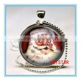 Vnistar wholesale hot Christmas jewelry Santa Claus pendent necklace for gift and party VN002