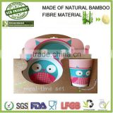 2015 hot selling natural melamine dinner set bamboo fibre kids dinner set                                                                         Quality Choice