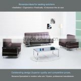 Modern design hotel leather lobby sofa set design 835# for hotel lobby, waiting area, holding area