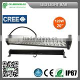 Spot,Flood and Trapezoidal/Combination 120W LED light bar for top of the 4x4 offroad & vehicles