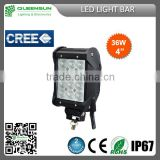 Hot Sell popular 36w LED cree Light Bar for Offroad Vehicle,Heavty Duty,Agriculture,Mining and Marine QRLB36-C