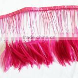 Hackle feather trim/feather ribbon