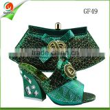 mint green italian shoe and bag set to match medium heel ladies sandals from guangzhou for wedding party