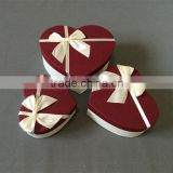 heart shaped Polka Dot boxes comes with hard cover lid and matching organza ribbon on top Box