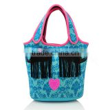 Plain neoprene tote bag for shopping wholesale manufacture