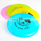 Round 19cm Frisbee for small dogs Colorful Healthy Plastic Pet Toy