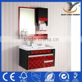 PVC Wall Mounted Glass Door Bathroom Vanity