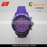 Popular 2012 plastic watches wholesale price ,promotional plastic watch,China quartz movement with rotational bezel