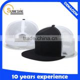 wholesale custom black mesh flat brim trucker cap snapback baseball trucker hats and cap                                                                         Quality Choice