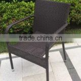 2016 outdoor garden cheap wicker rattan dining chair
