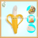 High Quality Safe Baby Teether Teething Ring Banana Silicone Toothbrush