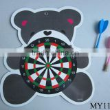 Cartoon animal/fruit shape magnetic dart board with 2 darts
