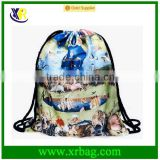 Women Mochila Man Gym bags Travel Backpack The Garden of Earthly Delights Printing Drawstring Shoe Bag