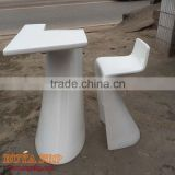 Restaurant furniture set creative fiberglass chair table coffee shop furniture customized