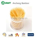 2.0x65mm plastic toothpick in box bamboo skewers and toothpick