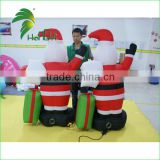 Kind-Hearted Hot Sale Giant Christmas Dolls Inflatables , Inflatable Santa Claus With Long White Beard