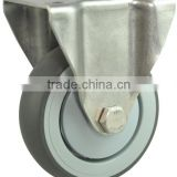 TPR stainless steel fixed caster wheel,plastic rubber castor