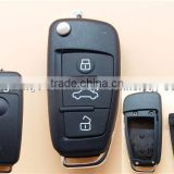 Factory Direct car key shell for Seat Altea Toledo Leon 3 button remote flip key fob case cover no blade