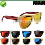 2015 Striped bamboo polarized sunglasses with bamboo boxs                                                                         Quality Choice