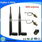 2.4 GHz wifi 5dBi 802.11b/g WiFi Antenna RP-SMA Male Connector For PCI Card USB Wireless Router +IPX-RP SMA Female 1.13