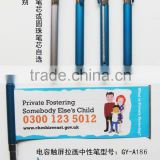 Top quality customized pull out banner pen/promotion metal pen/plastic ballpoint pen wholesale