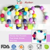 china manufacturer popular designs bpa free food grade silicone rubber bracelet charms
