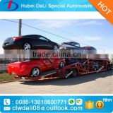 2 floors car carrier semitrailer hydraulic car transpotation truck trailer for sale