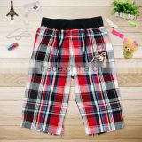 (D3735) BRBW Boys plaid summer shorts with adjustable waistband wholesale woven cargo shorts
