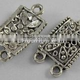 Tibetan Silver Links, Rectangle, Antique Silver(LF0707Y-NF)