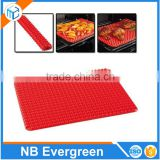 Eco-friendly Pyramid Pan Silicone Baking Mat /Silicone Oil Filter Mat/Silicone Drainning Mat