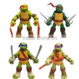 DIHAO Wholesale TMNT Teenage Mutant Ninja Turtles figure set of 4pcs 12cm PVC Ninja turtle action figures