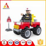 Good quality fire fighting fireman building blocks toys