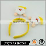 Ice Jam design yellow cute hair hoop christmas day child hair accessories                                                                                                         Supplier's Choice