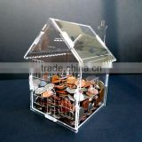House shape acrylic candy box