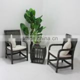 2013 latest design and cheapest outdoor round rattan dining table and chair furniture sets