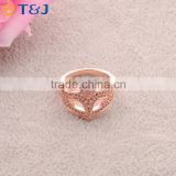 T&J Hot sale gold designs unisex ring fashion jewelry luxury mask shaped diamond zinc rings for women