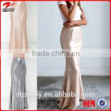 High fitted waist latest long skirt design maxi sequin skirt                                                                         Quality Choice