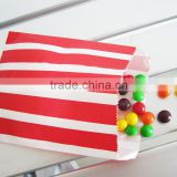 Red and white Stripe Paper Bags for Candy Bars and Packaging Gifts